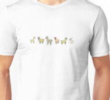Lollygagging Llamas Unisex T-Shirt