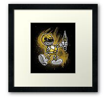 Vintage Yellow Ranger Framed Print