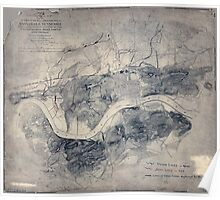 Civil War Maps 1838 Topographical map of the approaches and defences of Knoxville E Tennessee shewing the positions occupied by the United States Rebel forces during the siege Poster