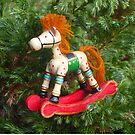 Rocking Horse Christmas Decoration by Vivian Eagleson