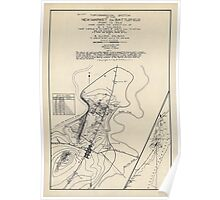 Civil War Maps 1863 Topographical sketch of the New Market Va battlefield of May 15 1864 Poster