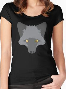 A beautiful Silver Fox Women's Fitted Scoop T-Shirt