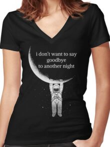 another night Women's Fitted V-Neck T-Shirt