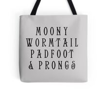 Moony Wormtail Padfoot and Prongs Tote Bag
