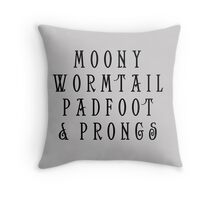 Moony Wormtail Padfoot and Prongs Throw Pillow