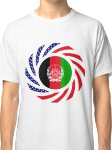 Afghani American Multinational Patriot Flag Series Classic T-Shirt