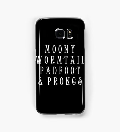 Moony Wormtail Padfoot and Prongs white Samsung Galaxy Case/Skin