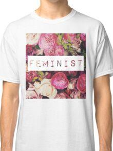 Floral Feminist Design Classic T-Shirt