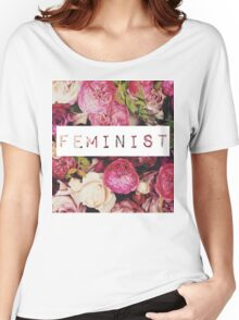 Floral Feminist Design Women's Relaxed Fit T-Shirt