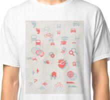 Urban mobility symbols Classic T-Shirt