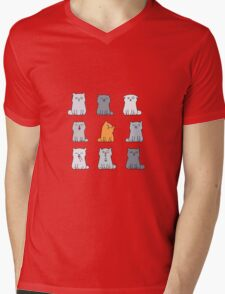 Nine cute kittens Mens V-Neck T-Shirt