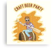 Craft Beer Party Canvas Print