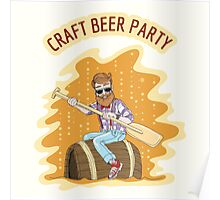 Craft Beer Party Poster