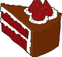 Strawberry Chocolate Cake by RiverbyNight