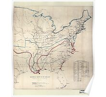 Civil War Maps 0496 Historical sketch of the rebellion United States 02 Poster