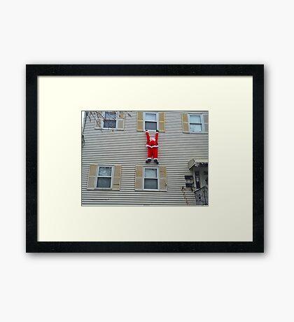 Santa Hanging Around For Christmas Framed Print