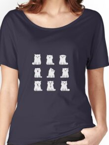 Nine cute white kittens Women's Relaxed Fit T-Shirt