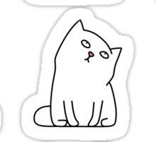 Nine cute white kittens Sticker