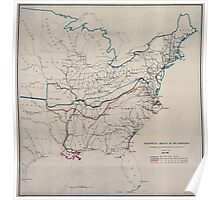 Civil War Maps 0499 Historical sketch of the rebellion Poster