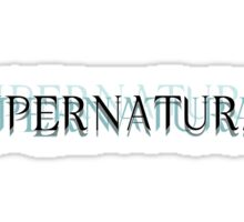 Supernatural Unofficial Logo Sticker