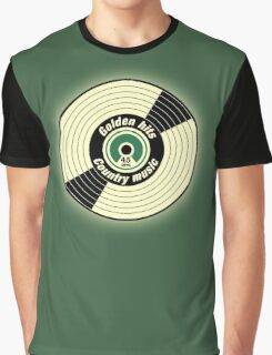 Golden Hits Country music Record  Graphic T-Shirt