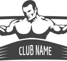 Powerlifting Athletic Logo Sticker