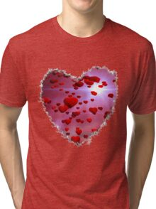 flying hearts Tri-blend T-Shirt