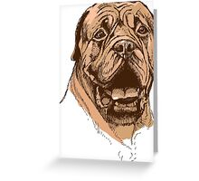 portrait of boxer dog in color and black and white Greeting Card