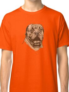 portrait of boxer dog in color and black and white Classic T-Shirt