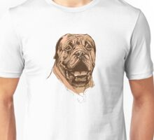 portrait of boxer dog in color and black and white Unisex T-Shirt