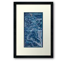 Civil War Maps 1908 War maps and diagrams Inverted Framed Print