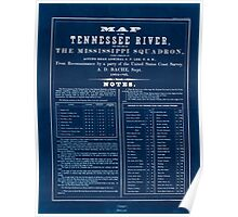 Civil War Maps 0993 Map of the Tennessee River for the use of the Mississippi Squadron Inverted Poster