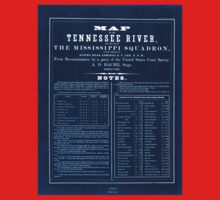 Civil War Maps 0993 Map of the Tennessee River for the use of the Mississippi Squadron Inverted Kids Tee