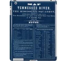 Civil War Maps 0993 Map of the Tennessee River for the use of the Mississippi Squadron Inverted iPad Case/Skin