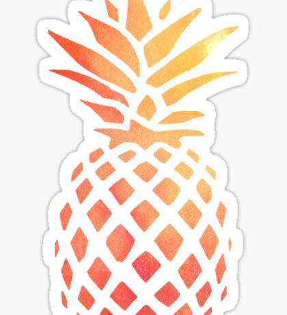 Pineapple Orange Watercolor Sticker