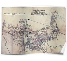 Civil War Maps 1605 Sketch no 4 of roads between H-Q 10th Army Corps and Swift Creek on the south with enemy's 2nd line of intrenchements sic around Drury's Bluff on the north Poster