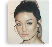 Gigi Hadid colored pencil Canvas Print