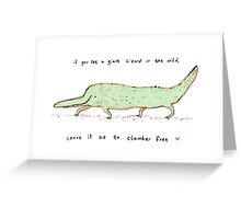 Wild Lizard Greeting Card