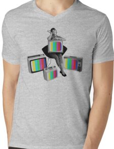 Color Mens V-Neck T-Shirt