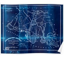 Civil War Maps 1110 Marlborough District South Carolina Inverted Poster