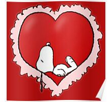 snoopy love Poster