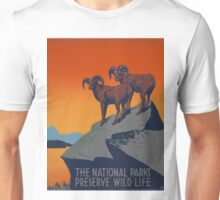 WPA Vintage National Parks Wildlife Travel Unisex T-Shirt
