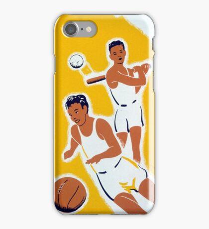 Vintage WPA Athletics Basketball Baseball iPhone Case/Skin