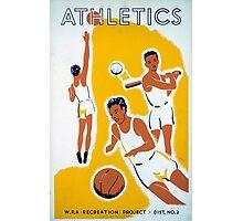 Vintage WPA Athletics Basketball Baseball Photographic Print