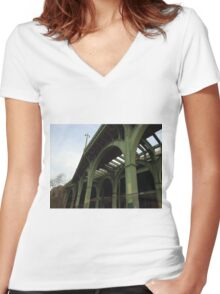 Abandoned West Side Highway, Riverside Park, New York City Women's Fitted V-Neck T-Shirt