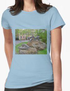 Thylacine statues, Launceston, Tasmania, Australia Womens Fitted T-Shirt