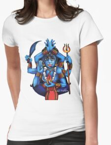 Kali's Flame Womens Fitted T-Shirt