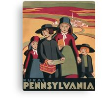 WPA Vintage Travel Poster Rural Pennsylvania Canvas Print