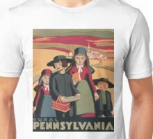 WPA Vintage Travel Poster Rural Pennsylvania Unisex T-Shirt