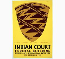Vintage Pomo Indian Basket San Francisco WPA Unisex T-Shirt